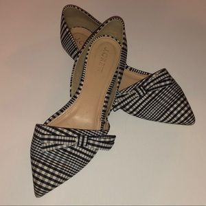 Gingham Pointed-Toe Flats